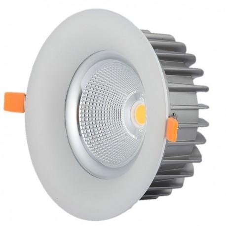 Faretto led incasso 60w 6000k rotondo luce bianca led for Led luce bianca