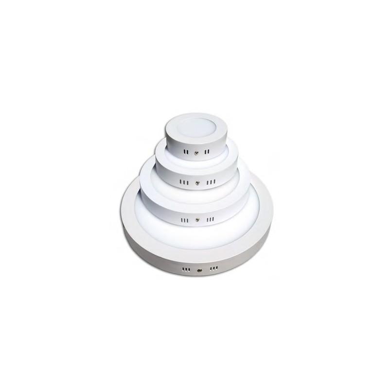 Plafoniera led rotonda 12w 6000k luce bianca led for Led luce bianca