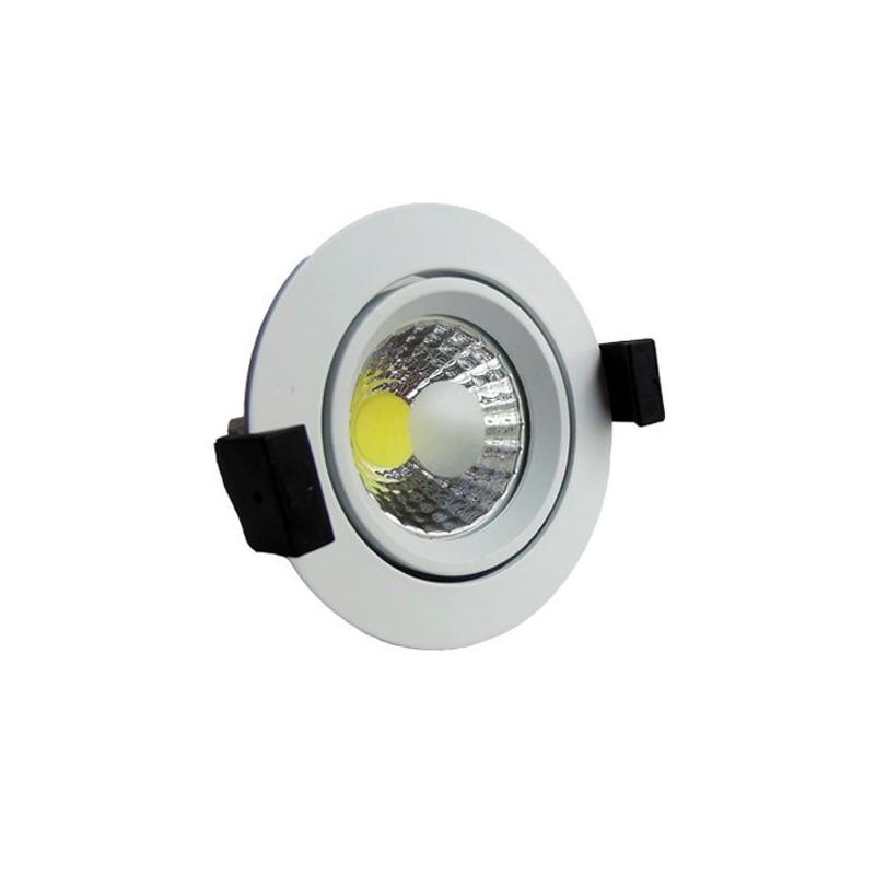 Faretto led incasso rotondo luce bianca 6000k 8w led for Led luce bianca
